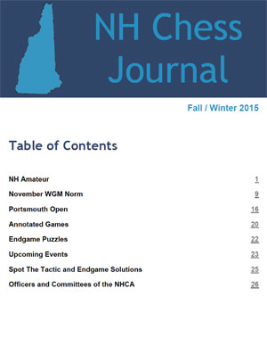 NH Chess Journal Fall/Winter 2015