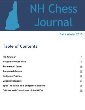 NH Chess Journal Fall/Winter 2015