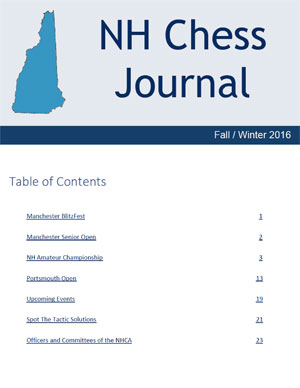 NH Chess Journal Fall/Winter 2016