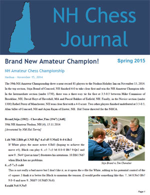 NH Chess Journal Spring 2015